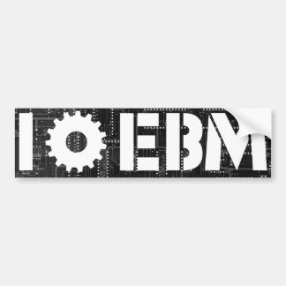 Eu amo a engrenagem do conselho de circuito de EBM Adesivo Para Carro