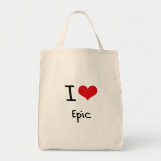 Eu amo a epopeia bolsa para compras