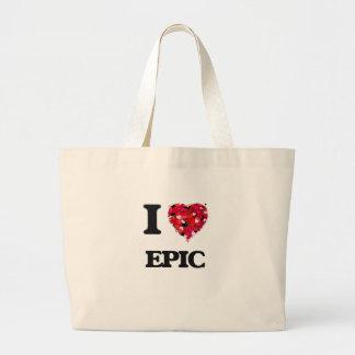 Eu amo a EPOPEIA Sacola Tote Jumbo