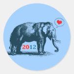 Eu amo a etiqueta 2012 bonito do GOP dos Adesivo Em Formato Redondo