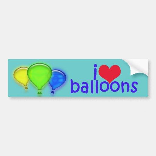 Eu amo a etiqueta de Balloons_Bumper Adesivo