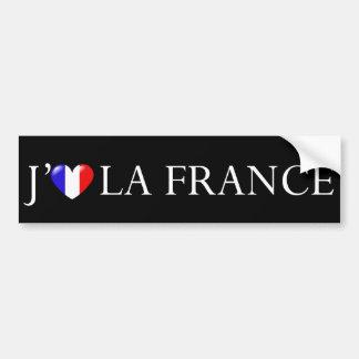 Eu amo a etiqueta de France Adesivo Para Carro