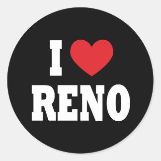 Eu amo a etiqueta de Reno Adesivo