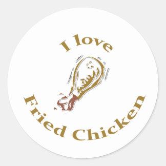Eu amo a etiqueta do frango frito