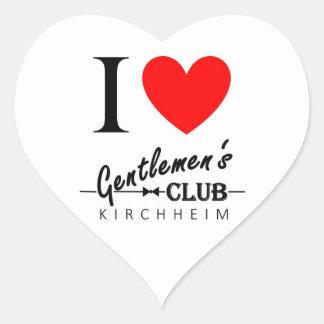 """Eu amo a etiqueta """"Kirchheim """" do coração do clube"""