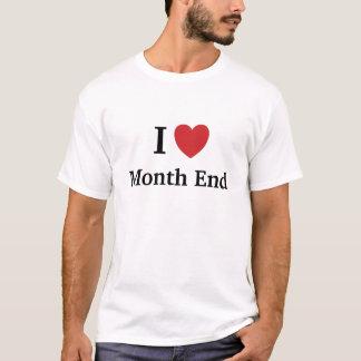 Eu amo a extremidade de mês - camisa masculina do