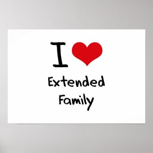 Eu amo a família extensa poster