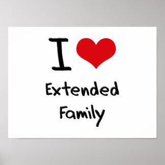 Eu amo a família extensa pôsteres