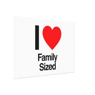 eu amo a família feita sob medida impressão de canvas esticadas