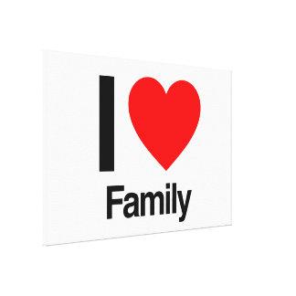 eu amo a família impressão em tela
