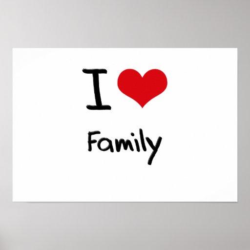 Eu amo a família posteres