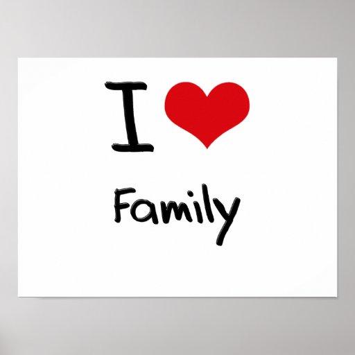 Eu amo a família impressão