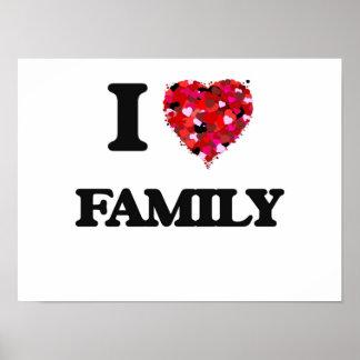 Eu amo a família poster