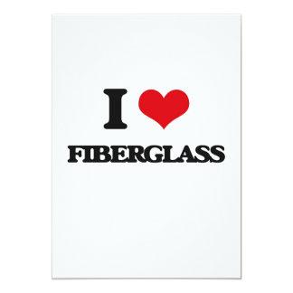 Eu amo a fibra de vidro convites personalizados