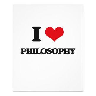 Eu amo a filosofia modelo de panfletos