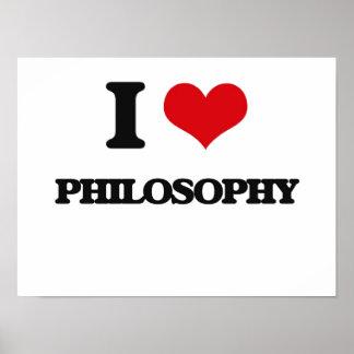Eu amo a filosofia impressão