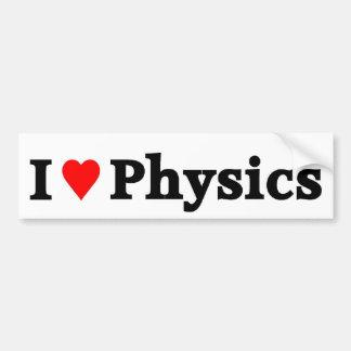 Eu amo a física adesivo para carro