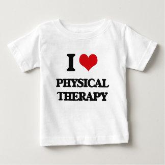 Eu amo a fisioterapia camisetas