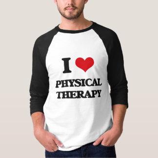 Eu amo a fisioterapia camiseta