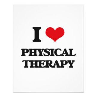 Eu amo a fisioterapia modelo de panfleto