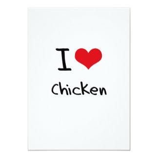 Eu amo a galinha convites