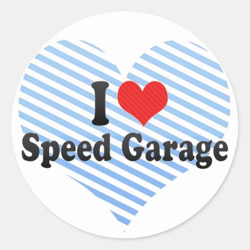 Eu amo a garagem da velocidade adesivos redondos