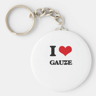 Eu amo a gaze chaveiro