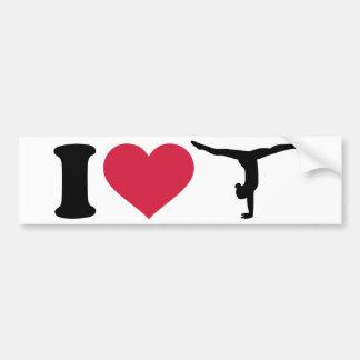 Eu amo a ginástica adesivo