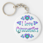 Eu amo a ginástica chaveiro