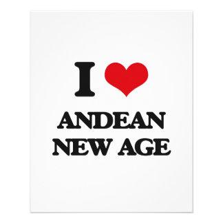 Eu amo a IDADE NOVA ANDINA Panfleto Coloridos