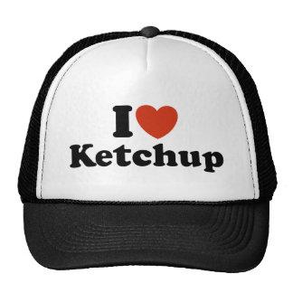 Eu amo a ketchup bonés