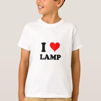 Eu amo a lâmpada camiseta