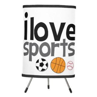 Eu amo a lâmpada dos esportes
