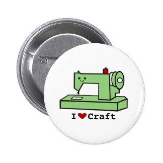 Eu amo a máquina de costura de Kawaii do ofício Bóton Redondo 5.08cm