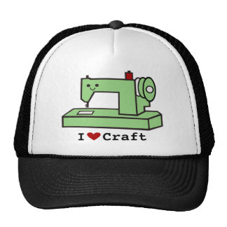Eu amo a máquina de costura de Kawaii do ofício Boné