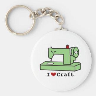Eu amo a máquina de costura de Kawaii do ofício Chaveiro