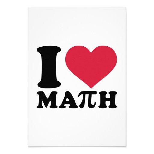 Eu amo a matemática Pi Convite Personalizados