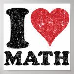 Eu amo a matemática poster