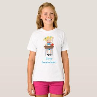 Eu amo a menina home da escola camiseta