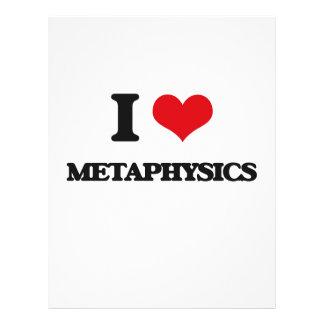 Eu amo a metafísica modelo de panfleto