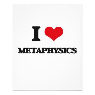Eu amo a metafísica panfleto coloridos
