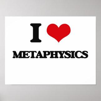 Eu amo a metafísica posteres