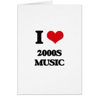 Eu amo a MÚSICA 2000S Cartões