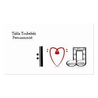 Eu amo a música (as notas do coração de I) Cartões De Visita