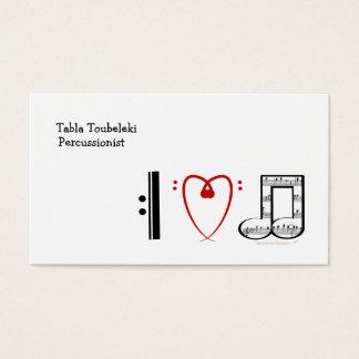 Eu amo a música (as notas do coração de I) Cartão De Visitas