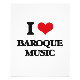 Eu amo a MÚSICA BARROCO Panfleto