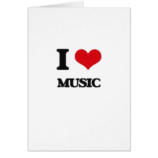 Eu amo a música cartoes