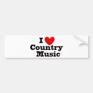 Eu amo a música country adesivo para carro