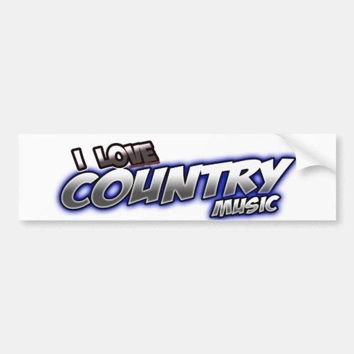 Eu amo a música country adesivos