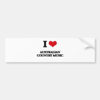 Eu amo a MÚSICA COUNTRY AUSTRALIANA Adesivos